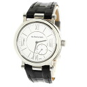 Authentic Van Cleef & Arpels Monsieur Arpels power reserve Watch stainless steel Leather Hand-wound Men