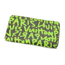 Authentic LOUIS VUITTON  Zippy wallet graffiti M93711 (With coin purse) Purse Monogram canvas