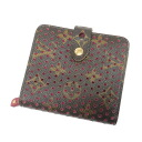 Authentic LOUIS VUITTON  Perfo compact zip M95188 (With coin purse) bi-fold wallet Monogram canvas