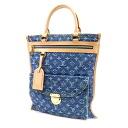 Authentic LOUIS VUITTON  Flat Shopper M95018 Handbag Monogram Denim