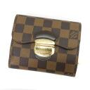 Authentic LOUIS VUITTON  Portefeiulle Joy N60034 (With coin purse) bi-fold wallet Damier Canvas