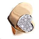Authentic Ponte Vecchio  Diamond Heart Ring 18K pink gold