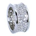 Authentic BVLGARI  B-ZERO1 diamond Ring 18K White Gold