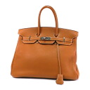 Authentic HERMES  Birkin 35 SilverHardware Handbag Clemence taurillon