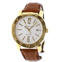 Authentic BVLGARI Bulgari Bulgari BB42WGLD Watch 18K Yellow Gold Leather Self-winding Men