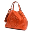 Authentic GUCCI  GG Handbag Leather
