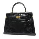 Authentic MORABITO  Belt design Handbag Crocodile