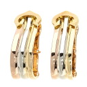 Authentic CARTIER  2C logo motif Earring 18K Yellow Gold 18K Pink Gold