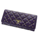 Authentic PRADA  with logo (With coin purse) Purse Leather