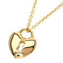 Authentic TIFFANY&Co.  Heart lock mini Necklace 18K pink gold