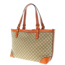 Authentic GUCCI  Plaid Tote bag Leather x canvas