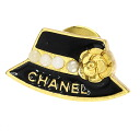 Authentic CHANEL  Pin badge hat design Brooch Metal