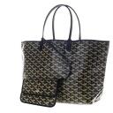 Authentic GOYARD  Saint Louis PM herringbone pattern Tote bag PVC canvas