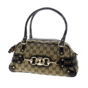 Authentic GUCCI  GGpattern Shoulder bag Canvas x Leather