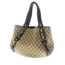 Authentic GUCCI  GGpattern braided design Shoulder Shoulder bag Canvas x Leather