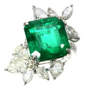 SELECT JEWELRY Emerald and diamond ring-ring K18 white gold ladies fs04gm