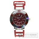 Authentic SWAROVSKI with logo Watch Red rubber  Quartz Ladies