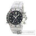 Authentic BVLGARI Diagono Scuba SD38Stainless SteelD GMT Overhauled Watch stainless steel  Self-winding Men