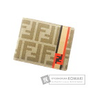 FENDI caked pattern line two-fold wallets (purses and) ladies ' PVC