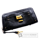 Authentic CHLOE  Cadena motif (With coin purse) Purse Patent leather