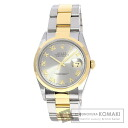 Authentic ROLEX Oyster Perpetual Datejust 16203 Overhauled Watch stainless steel 18K Yellow Gold Self-winding Men