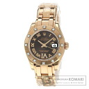 Authentic ROLEX Pearl Master 80315 Watch 18K pink gold  Self-winding Ladies