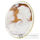 Cameo Esposito Brooch 18K Yellow Gold  31.2