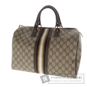 Authentic GUCCI  Boston type line GGpattern Handbag PVC