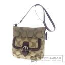 Authentic COACH  2WAY Long Shoulder signature belt motif Shoulder bag Canvas x Leather