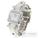 Authentic AUDEMARS PIGUET Do~uvu~a Watch White leather  Quartz Ladies