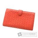 Authentic BOTTEGA VENETA  Intrecciato (With coin purse) Purse Leather