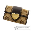 Authentic GUCCI  six hooks GGpattern Heart Key case Canvas