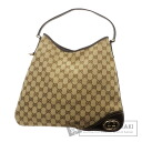 Authentic GUCCI  GGpattern one belt Shoulder bag Leather x canvas