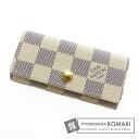 Authentic LOUIS VUITTON  Multicles4 N60020 Key case Damier Canvas