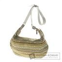 Authentic BALLY  Mesh beads Shoulder bag Leather Bead