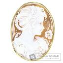 Cameo woman motif Brooch 18K Yellow Gold  19
