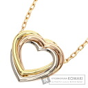 Authentic CARTIER  Trinity Heart Necklace 18K Gold