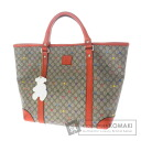 Authentic GUCCI  Logo engraved Bear motif GG Star Handbag PVCx Leather