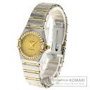 Authentic OMEGA Constellation Diamond Watch stainless steel  Quartz Ladies