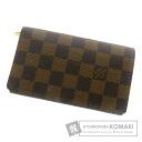 Authentic LOUIS VUITTON  Porto Foiyu Torezoru M61736 (With coin purse) bi-fold wallet Damier Canvas