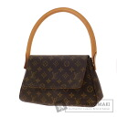 Authentic LOUIS VUITTON  Mini Looping M51147 Shoulder bag Monogram canvas