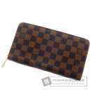 Authentic LOUIS VUITTON  Zippy Organizer N60003 (With coin purse) Purse Damier Canvas