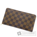 Authentic LOUIS VUITTON  Porto Monet Zip N61728 (With coin purse) Purse Damier Canvas
