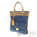 Authentic LOUIS VUITTON  Flat Shopper M95018 Handbag Monogram Denim
