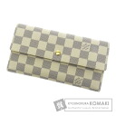 Authentic LOUIS VUITTON  Portefeiulle · International N61732 (With coin purse) Purse Damier Canvas