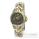 Authentic TAG HEUER S95.213 Watch stainless steel Gold Plated Quartz Ladies