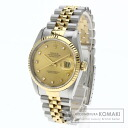 Authentic ROLEX Oyster Perpetual Datejust 16233G Overhauled Watch stainless steel 18K Yellow Gold Self-winding Men