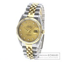 Authentic ROLEX 16233G old type Watch stainless steel 18K Yellow Gold Mechanical Automatic Men