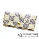 Authentic LOUIS VUITTON  Myurutikure N61745 Key case Damier Canvas
