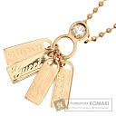 Authentic GUCCI  Diamond with logo Necklace 18K pink gold